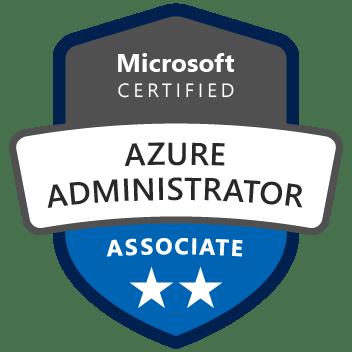 Badge Microsoft Certified Azure Administrator Associate